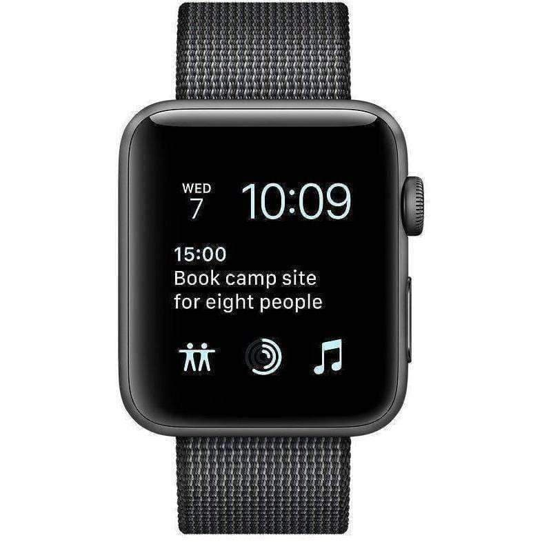Apple Watch 2 42mm Grey Alumnium Case With Black Woven Nylon Band MP072