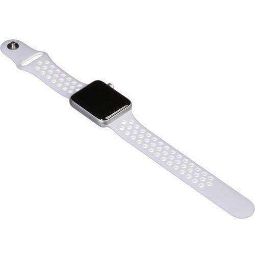 Apple Watch 2 42mm Silver Aluminium Case with White Sport Band MNPJ2