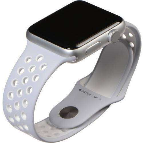 Apple Smart Watch Apple Watch 2 42mm Silver Aluminium Case with White Sport Band MNPJ2 duvolab