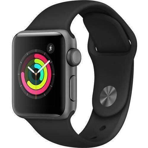 Apple Smart Watch Apple Watch 3 38mm Gray Aluminium Case With Black Sport Band MQKV2 duvolab