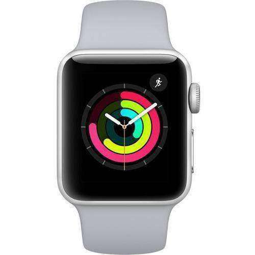 Apple Smart Watch Apple Watch 3 38mm Silver Aluminium Case With Fog Sport Band MQKU2 duvolab