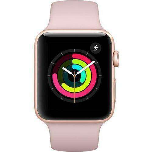 Apple Smart Watch Apple Watch 3 42mm Gold Aluminum / Pink Sand Sport Band MQKP2 (GPS+Cellular) duvolab
