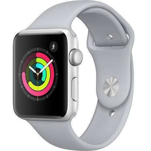 Apple Smart Watch Apple Watch 3 42mm Silver Aluminium Case With Fog Sport Band MQKM2 duvolab