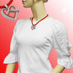 NECKLACE FOR TRADITIONAL COSTUME HEART 45CM
