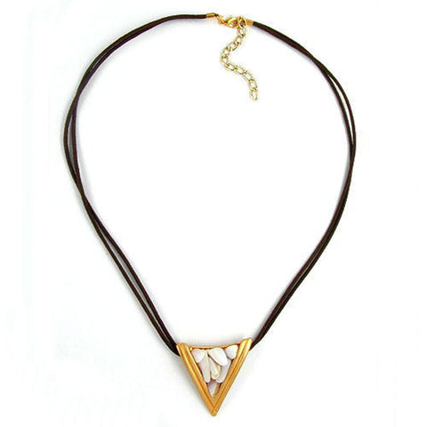 NECKLACE TRIANGLE MOTHER-OF-PEARL 45CM
