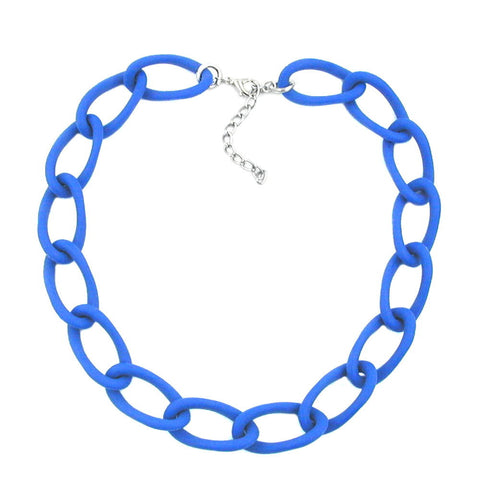 COLLIER WIDE CURB CHAIN JEANSBLUE-MATT
