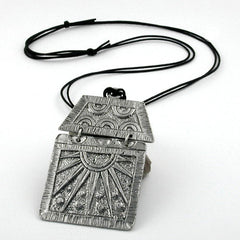 NECKLACE PEWTER PENDANT 110CM