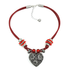 NECKLACE FOR TRADITIONAL COSTUME HEART 42CM