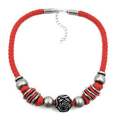 NECKLACE FOR TRADITIONAL COSTUME ROSE 42CM