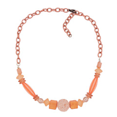 NECKLACE CHAIN WITH BEADS ROSE