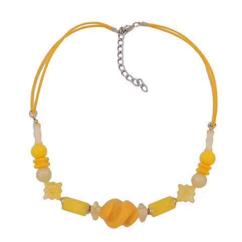 NECKLACE YELLOW BEADS TWISTED