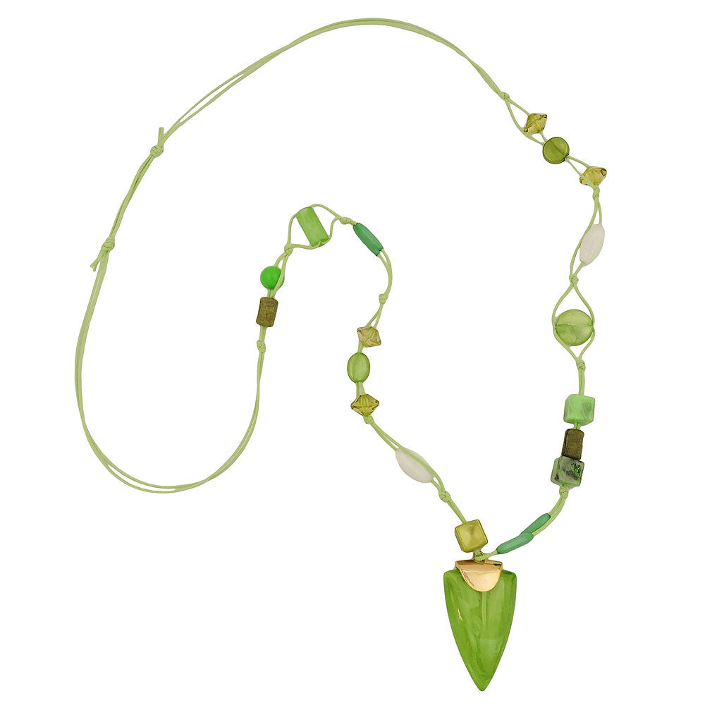NECKLACE GREEN BEADS