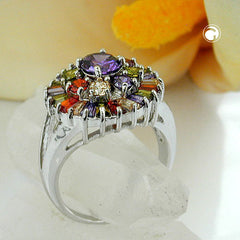 RING CUBIC ZIRCONIA MULTI COLOR (RING SIZE 54)