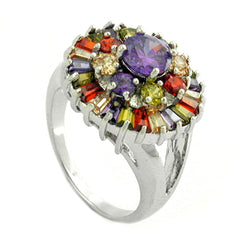 RING CUBIC ZIRCONIA MULTI COLOR