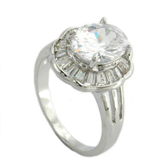 RING CUBIC ZIRCONIA CRYSTAL WHITE (RING SIZE 60)