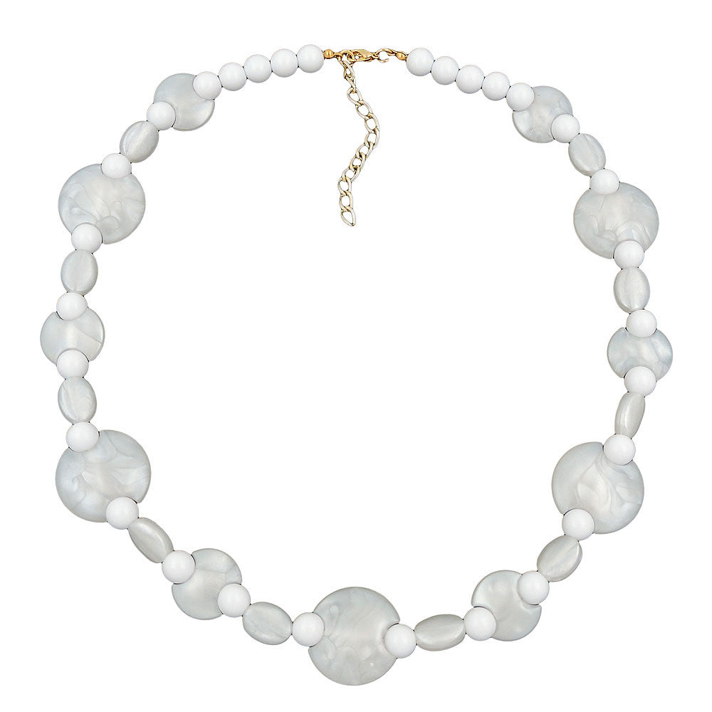 NECKLACE WHITE BEADS PEARL WHITE