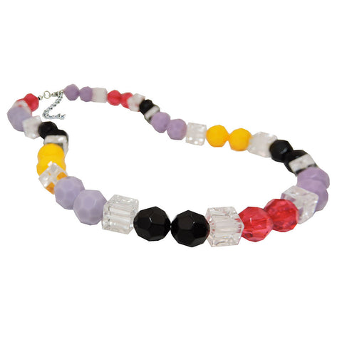 NECKLACE HONEYCOMB BEADS MULTICOLOR FACETED