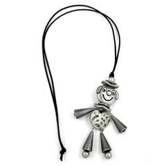 NECKLACE JUMPING JACK ANTIQUE-SILVER 90CM