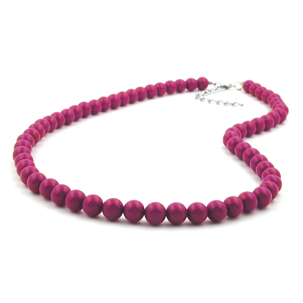 CHAIN WITH PURPLE BEADS 8MM 42CM