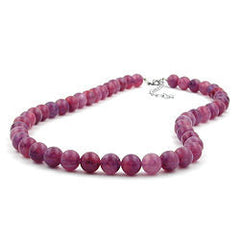 NECKLACE BEADS 10MM LILAC-PURPLE 42CM