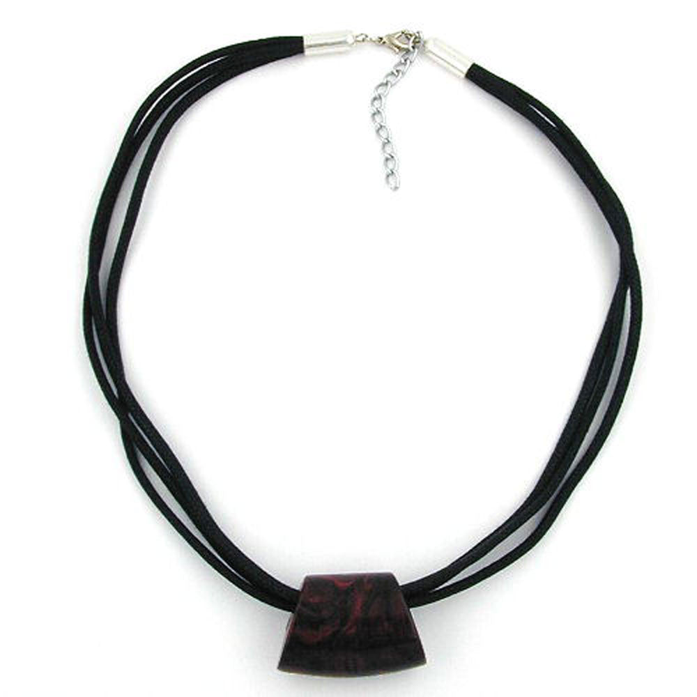 NECKLACE ROOT-WOOD TRAPEZIUM CORD