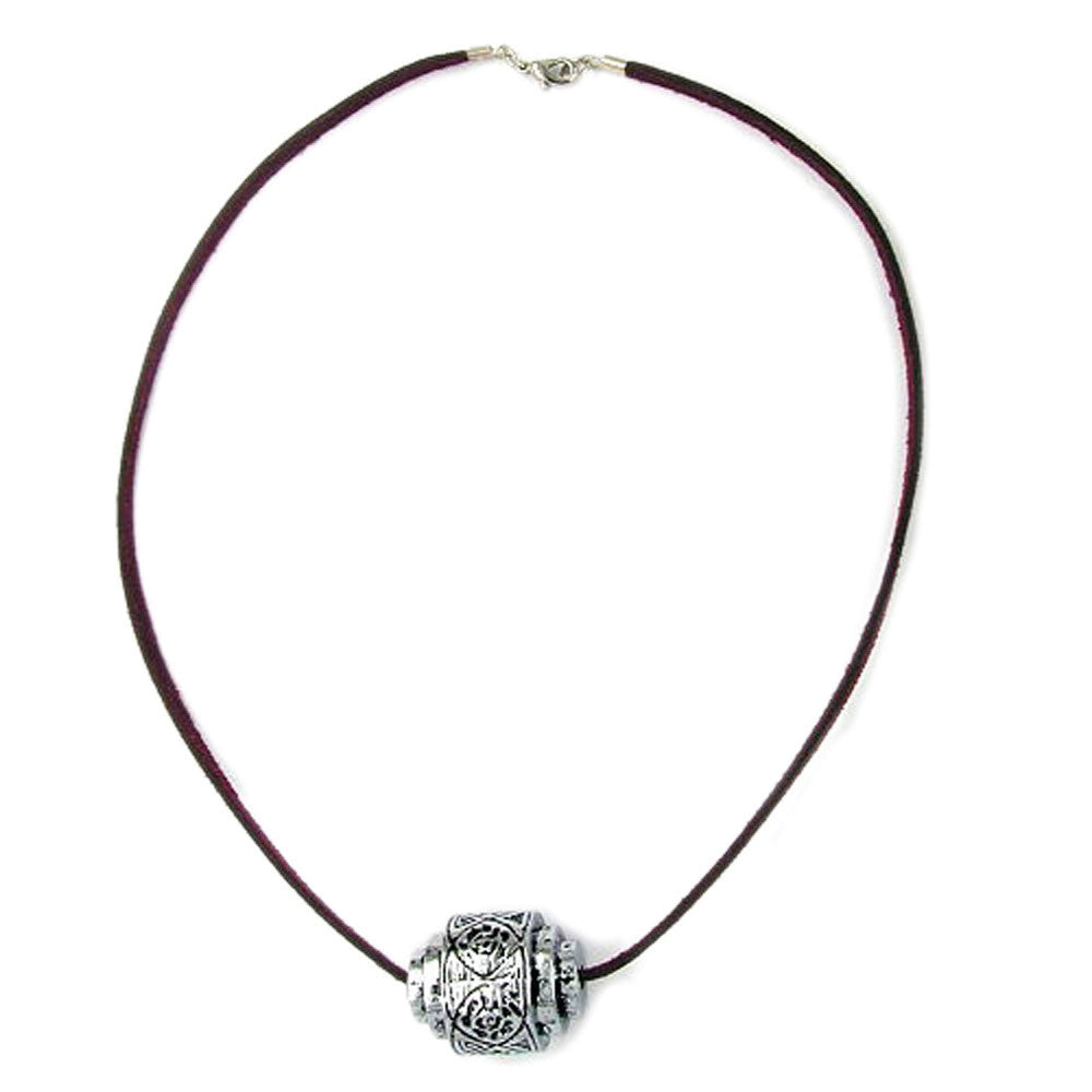 NECKLACE EYE-CATCHING BEAD CHROME