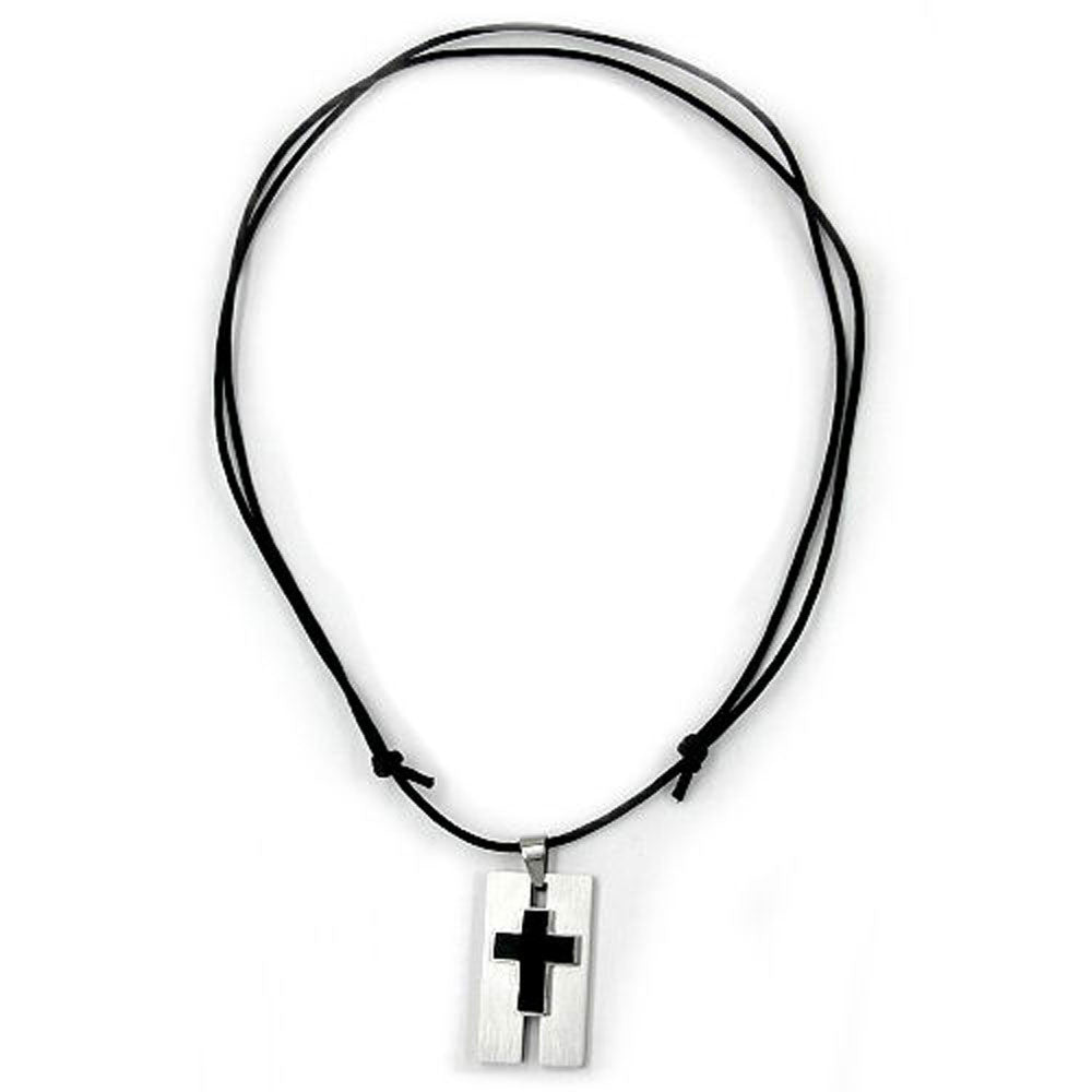 NECKLACE CROSS STAINLESS STEEL 100CM