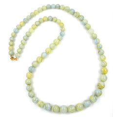 BEAD CHAIN GREEN-YELLOW SIZE VARIABLE 85CM