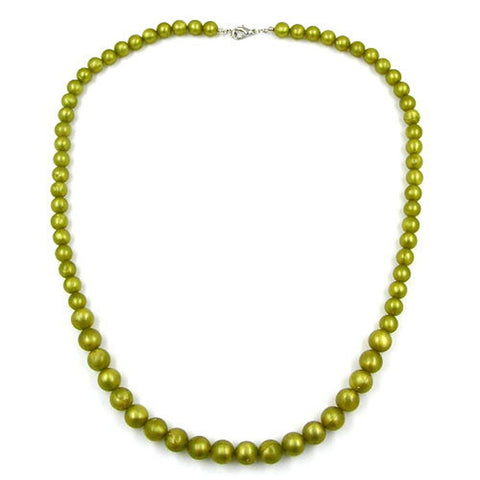BEAD CHAIN GREEN-OLIVE SIZE VARIABLE 55CM