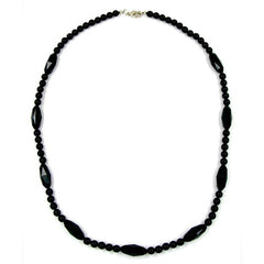 NECKLACE BEADS BLACK
