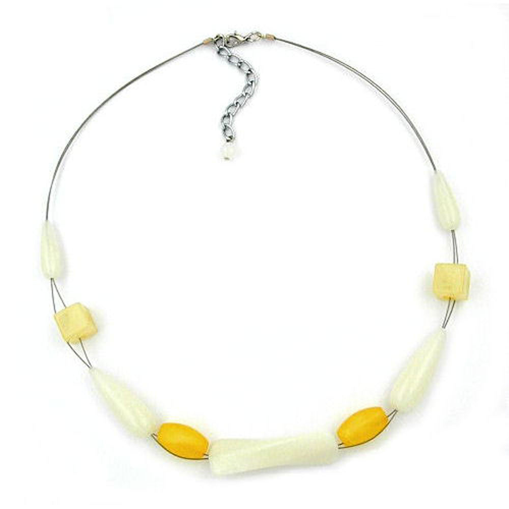 NECKLACE YELLOW-BROWN