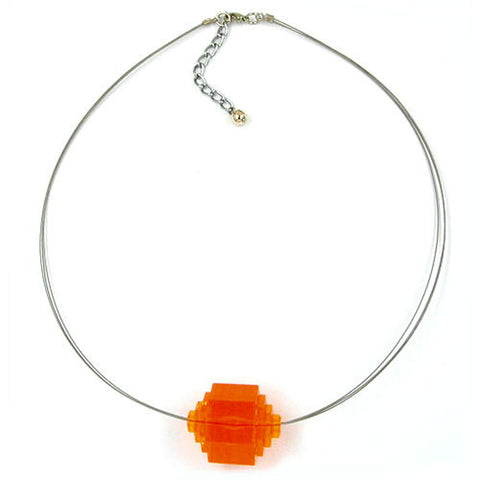 NECKLACE EYE-CATCHING BEAD ORANGE