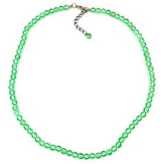 NECKLACE GREEN BEADS 6MM 50CM