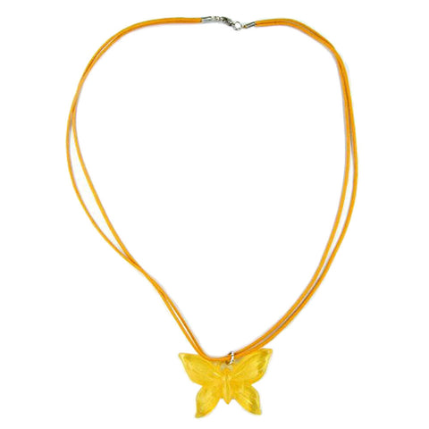 NECKLACE BUTTERFLY YELLOW