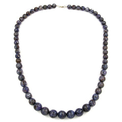 NECKLACE BEADS GREY/ LILAC