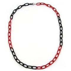 NECKLACE ANCHOR CHAIN 8MM RED/ BLACK 60CM