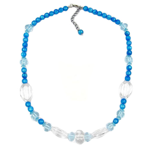 NECKLACE LIGHT-BLUE TURQUOISE 55CM