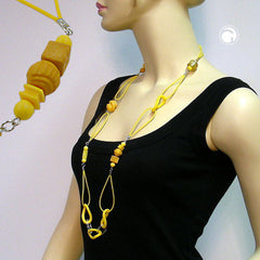NECKLACE CURB CHAIN WITH RUBBER 95CM