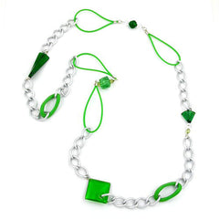 NECKLACE CURB CHAIN WITH RUBBER 100CM
