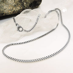 NECKLACE BOX CHAIN STAINLESS STEEL 42CM
