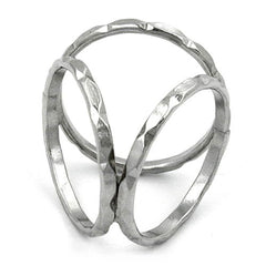 SCARF BEAD 3 RINGS SILVER PLATED
