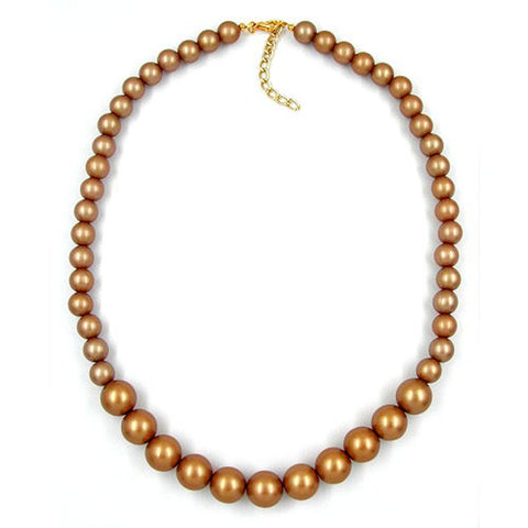 NECKLACE BEADS CHAMPAGNE