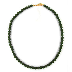 NECKLACE BEADS OLIVE GREEN