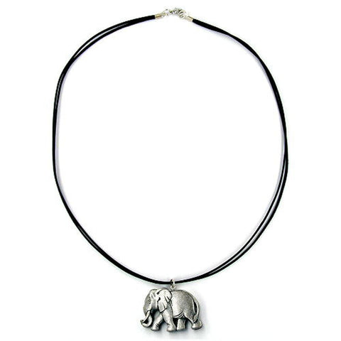 NECKLACE TINY ELEPHANT SILVER 50CM