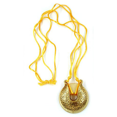 NECKLACE AMULET HORSE SHOE YELLOW