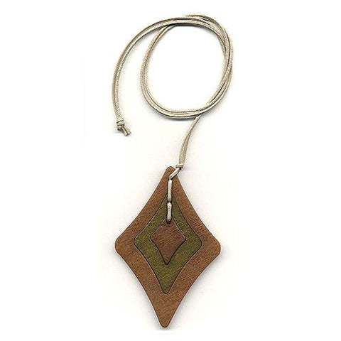 NECKLACE BAROQUE PENDANT BROWN/ GREEN