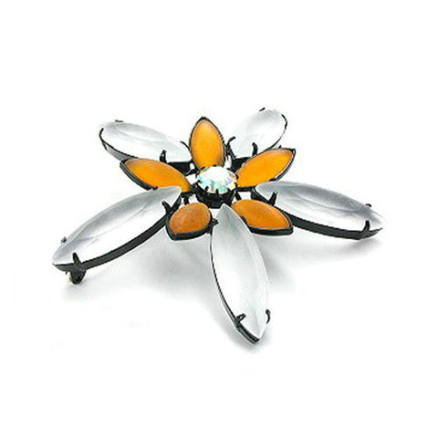 BROOCH BIG FLOWER TOPAZ
