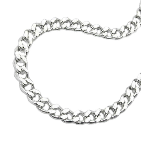 NECKLACE FLAT CURB CHAIN SILVER 925 50CM