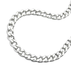 NECKLACE FLAT CURB CHAIN SILVER 925 60CM