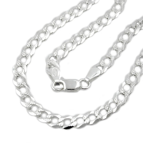 NECKLACE OPEN CURB CHAIN SILVER 925 50CM